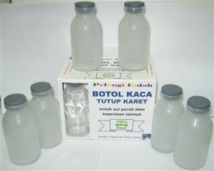 Botol - Toples Kaca 120ml (Brand New), Tutup KARET Dan Dus Eceran