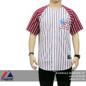 BAJU JERSEY BASEBALL MAJESTIC USA NEW YORK/NY/YANKEES/SOX