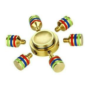 Fidget Spinner 6 Sisi Baling Full Besi / Spiner Hand Toys