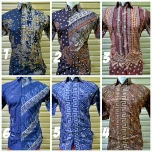 Jual PROMO DISKON Baju Batik Pria Kerja Ika Fashion Tanah Abang
