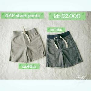 celana anak cowo pendek gap kids pants original branded