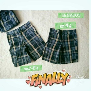 celana pendek anak cowo laki boys kotak kargo branded shorts original