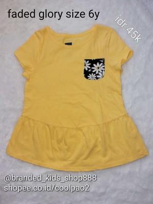 kaos baju anak cewe girls faded glory 6y branded ori