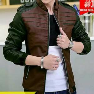 jaket kulit pria , jaket kulit sintetis, jaket kulit semi kulit