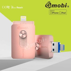 Flashdisk Gmobi iStick Pro 64GB 3 in 1 Micro-Lightning-USB 3 ROSE GOLD
