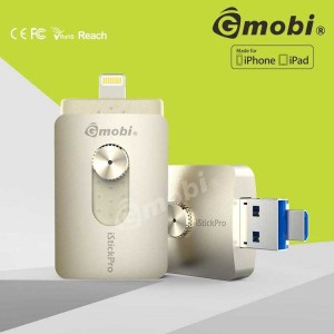 Flashdisk Gmobi iStick Pro 64GB 3 in 1 Micro-Lightning-USB 3.0 GOLD