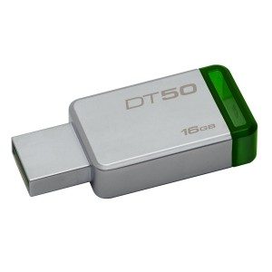 Flashdisk Kingston 16GB DataTraveler 50 USB 3.1 30MB/S - DT50 HIJAU