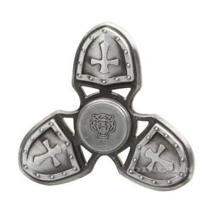 Fidget Spinner Premium Titanium Alloy Perisai Castle Silver