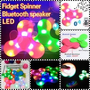 Fidget Spinner Bluetooth Speaker Lampu LED / Spiner Audio Musik