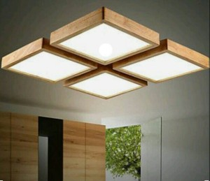 Paket Lampu Gantung Ukuran 110x40 Warna Natural Finishing Doff