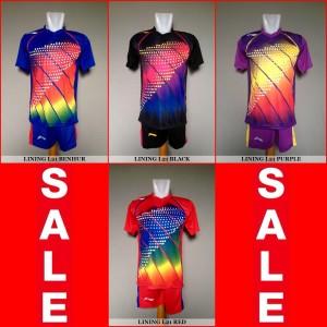 Setelan Badminton / Bulutangkis Lining L21 (Baju Kaos Celana)