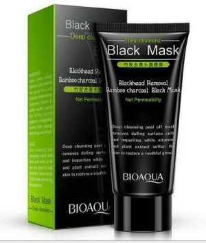 bioaqua black mask bamboo charcoal carbon coral. remove blackhead