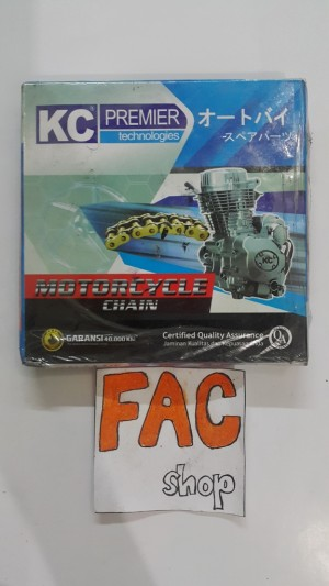 rantai racing KC premier 420HG-108L gold.