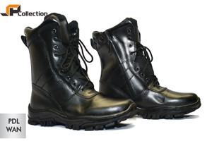 Sepatu Kulit PDL Wan Standart TNI Bahan Sepatu Kulit Asli / Militer