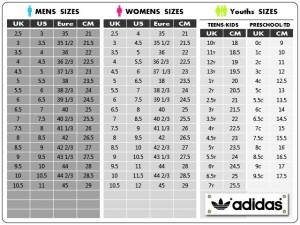 Size chart adidas peopledavidjoel size chart adidas greentooth Images