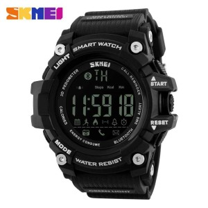 Jam Tangan Pria Digital SKMEI Smart Watch Bluetooth Original DG1227
