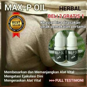 jual pembesar alat vital pria max p oil bukan minyak lintah