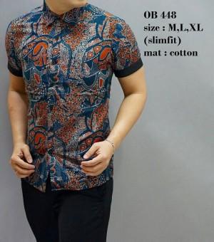 Kemeja Batik / Baju Modern Pria / Kemeja Pendek / Atasan Batik OB448