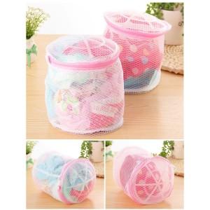 Folding Nylon Bra Washing Laundry Bags / Kantong Cuci Bra Celana Dalam