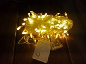 Lampu Natal 100 LED 10 Meter Warna Kuning Kepala Roket Colokan Sambung