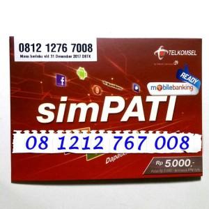 Perdana Nomor Cantik Simpati 3G Murah ABAB 0812 1212 767 008