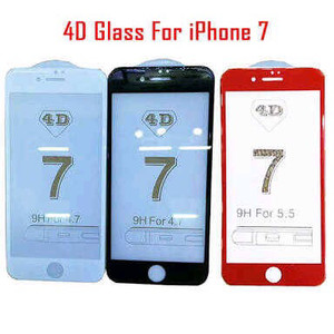 Tempered Glass 4D for iPhone 7 plus
