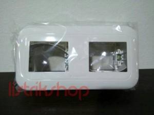 Frame 2 Gang Panasonic Wide Putih