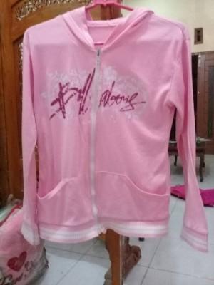 jaket pink hoodie (sold)