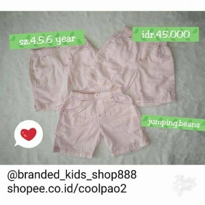 celana pendek anak jumping benas branded original authentic kids pants