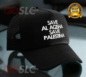 TOPI JARING TRUCKER SAVE AL AQSHA SAVE PALESTINE 4T6 - SLC