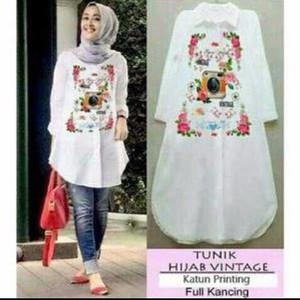 Tunik Hijab Vintage Muslim/ New Arrival/ Bermerk/ Trendi