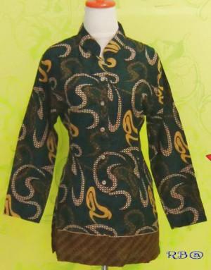 Blouse Batik KAYLA UKIR HIJAU