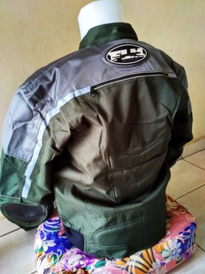 Jaket Protektor Motor Touring FLM (HIJAU ARMY BIKERS) NEW MODEL,Keren