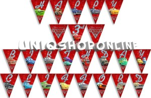 Personalized Bunting Flag Disney Cars 3