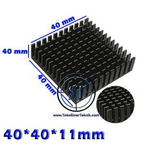 Heatsink 40x40x11mm BLACK Radiator Peltier TEC1-12706 40x40x11 mm