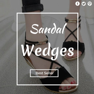 Ready sandal wedges | SANDAL WEDGES WANITA HANNA HITAM | Sandal Wedges