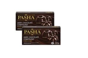 Kompon Coklat   Pasha Dark Chocolate Compound 250