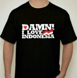Tshirt I Love Indonesia/ Kaos Oblong I Love Indonesia/ Kaos Murah