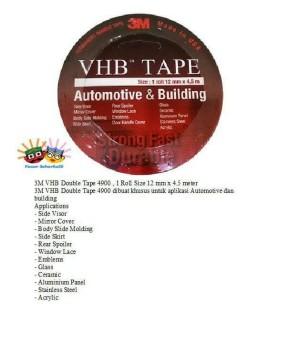 Double tape, VHB Automotive & Buliding , ukran 12 mm x 4,5 mtr