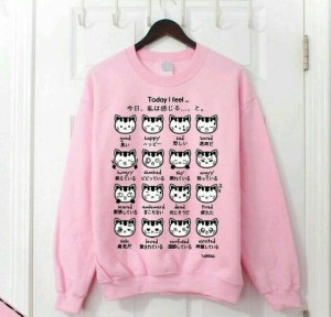 Sweater pink cat