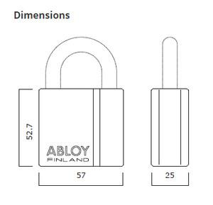 (Gembok) Padlock Abloy PL341/25 Tipe Klasik