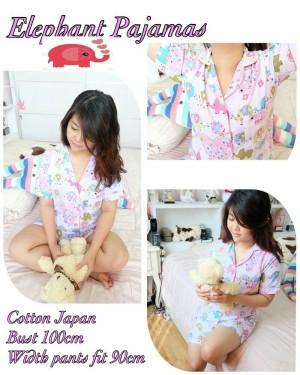 Baju tidur cewek elephant pajamas