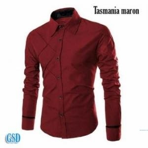 Baju Cowok / Kemeja Keren, Casual  ( Tasmania Maron )