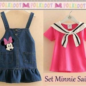 VC set minnie sailor matt denim super + atasan spdx sailor uk3-4thn.jp