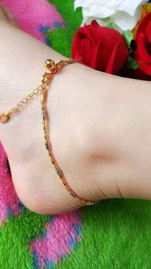 gelang kaki mix tabung kecil