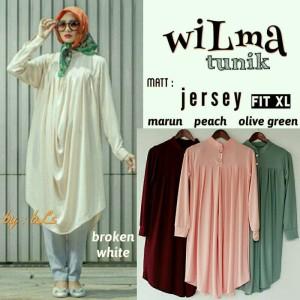 Baju Atasan Blouse Tunik Wanita Baju Muslim Blus Muslim Wilma Tunik