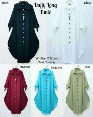 Baju Atasan Blouse Tunik Wanita Baju Muslim Blus Duffy Long Tunik