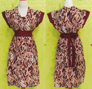 Dress Batik Katun Halus SHELLA MEGA