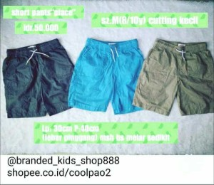 celana pendek anak cowo cowok boys branded pants place