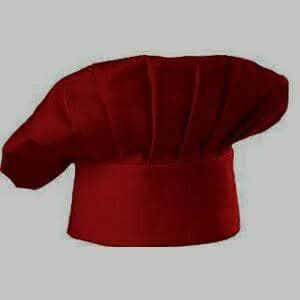 Topi koki Merah maroon